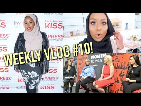 THE WEEKLY VLOG | Fancy Events, YouTube Women's Day Panel & NEW PLANT! | Aysha Abdul