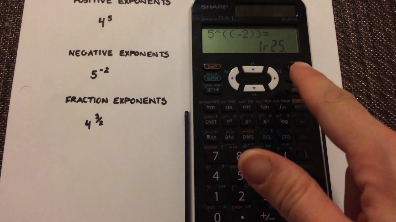 Negative exponents and fractional exponents examples youtube.