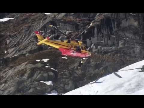 Rescue Operation After Avalanche at  Courmayeur Glacier