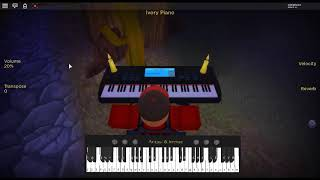 Flowers - Let's Go by: In Love With a Ghost sur un piano ROBLOX.