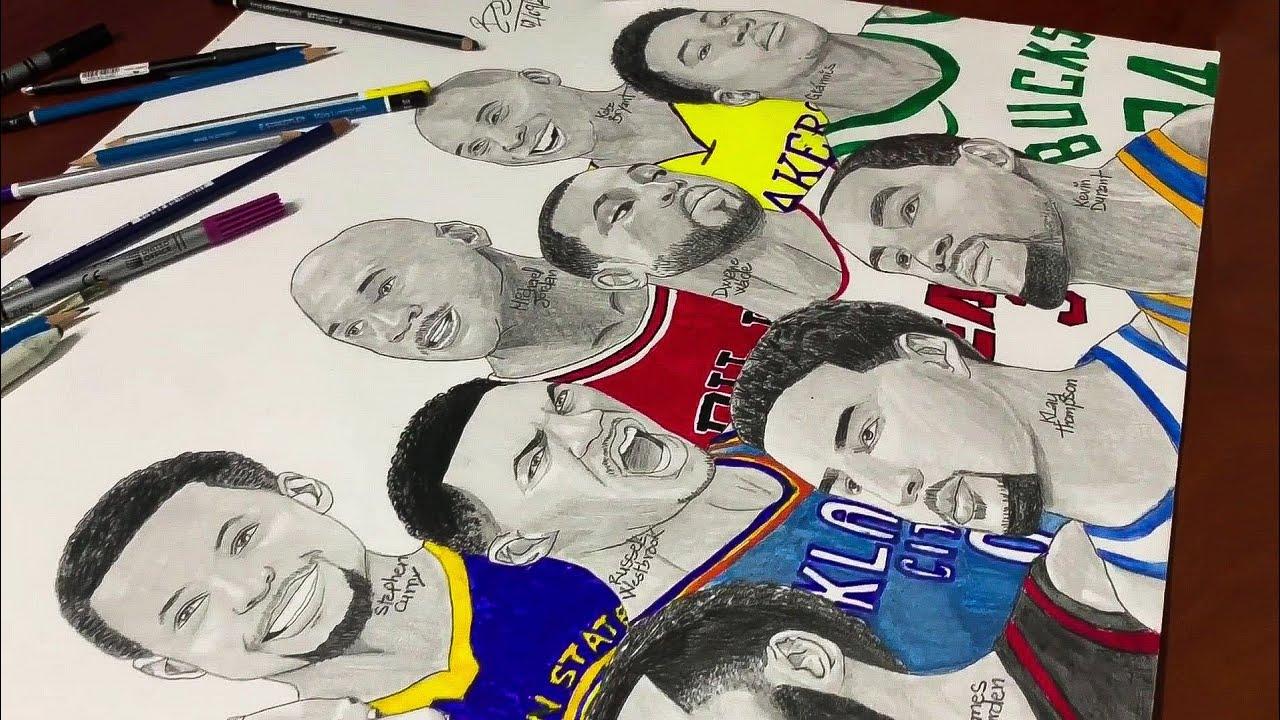 Drawing Of Nba Stars: DRAWING BEST NBA PLAYERS