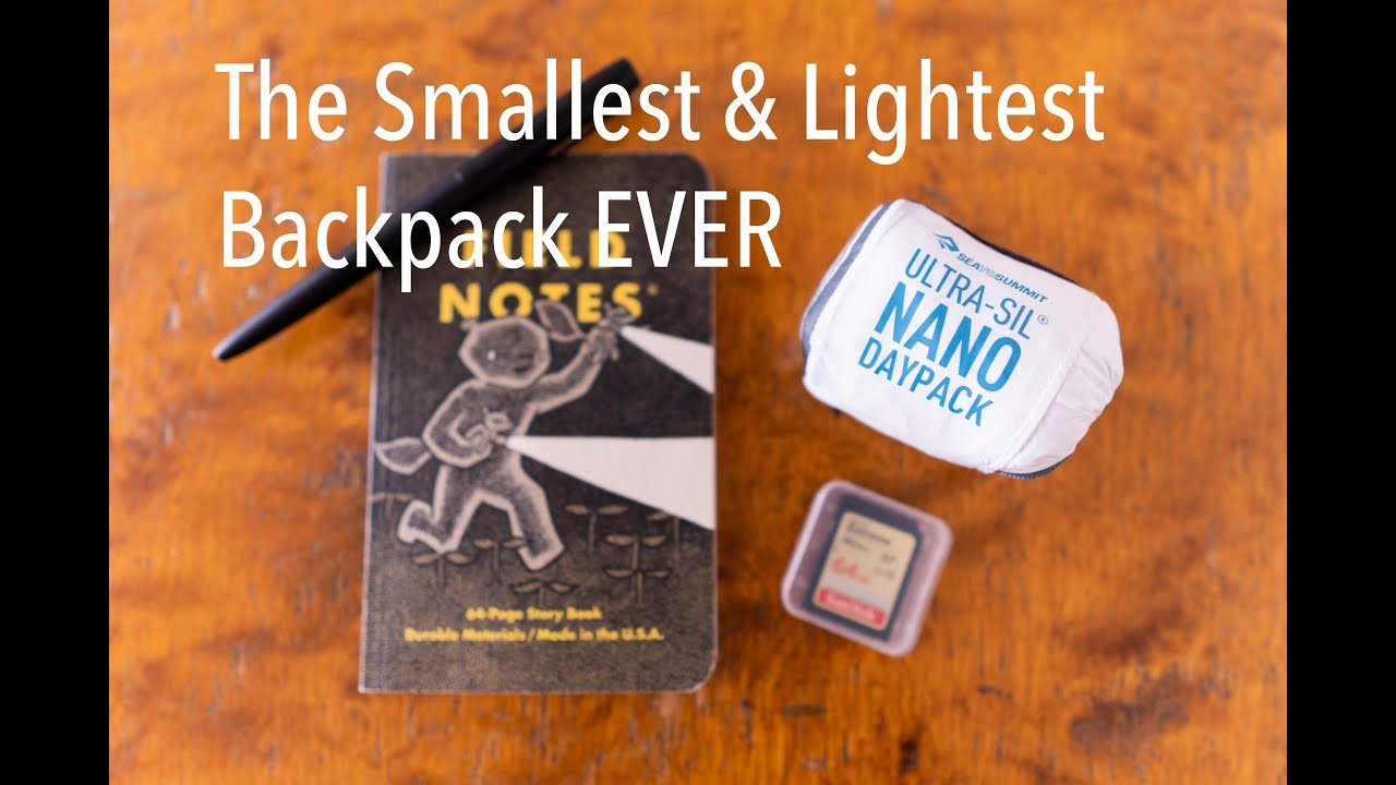 e9672129c The lightest Backpack EVER - Sea to Summit Ultra-Sil Nano Daypack ...