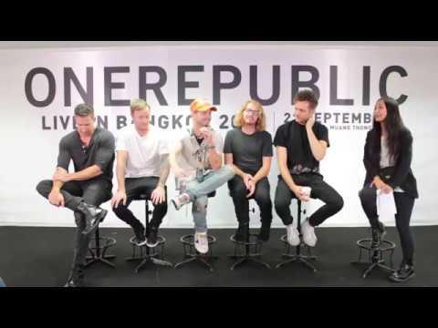 OneRepublic Live in Bangkok 2017 Press Interview