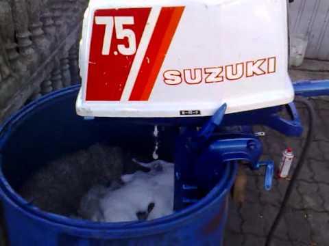 Suzuki 7 5 hp outboard motor 2 stroke dwusuw youtube for Suzuki 2 5 hp motor