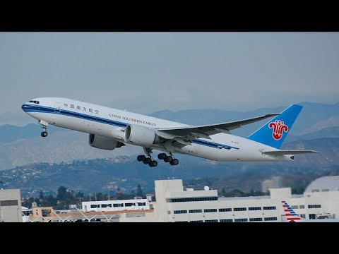 China Southern Cargo Boeing 777-200LR/F [B-2071] Departing LAX.