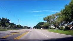 Driving into the Homestead Air Reserve Base in Florida
