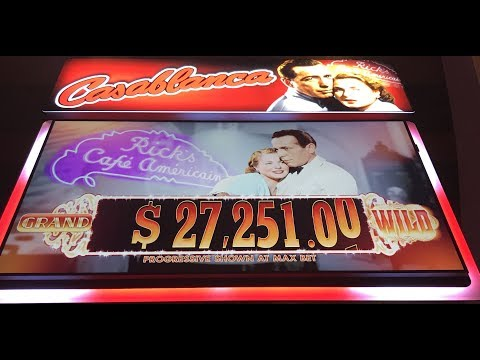 Casablanca Slot Machine - Live Play and Sam Progressive