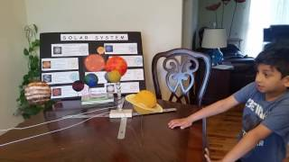 Arwin's 1st grade Science Project - Solar System