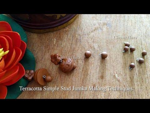 terracotta-stud-jumkas-||-step-by-step-tutorial