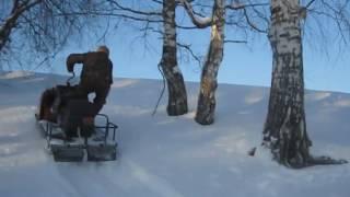 Гусеницы 'Полярник' на снегоходе 'буран'