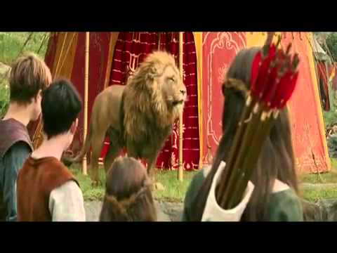 The white witch bows before Aslan-Chronicles of Narnia