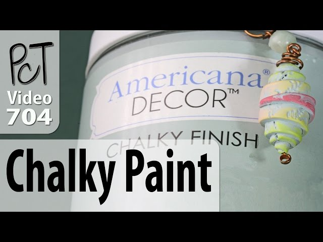 Testing Americana Chalky Paint On Polymer Clay