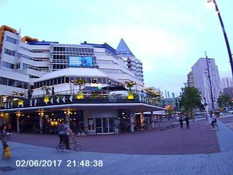 ROTTERDAM CENTER WALKING 2017 cam 4K