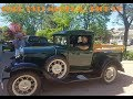 Very Rare 1931 Ford Model A Pick Up Truck Wood Working on Road