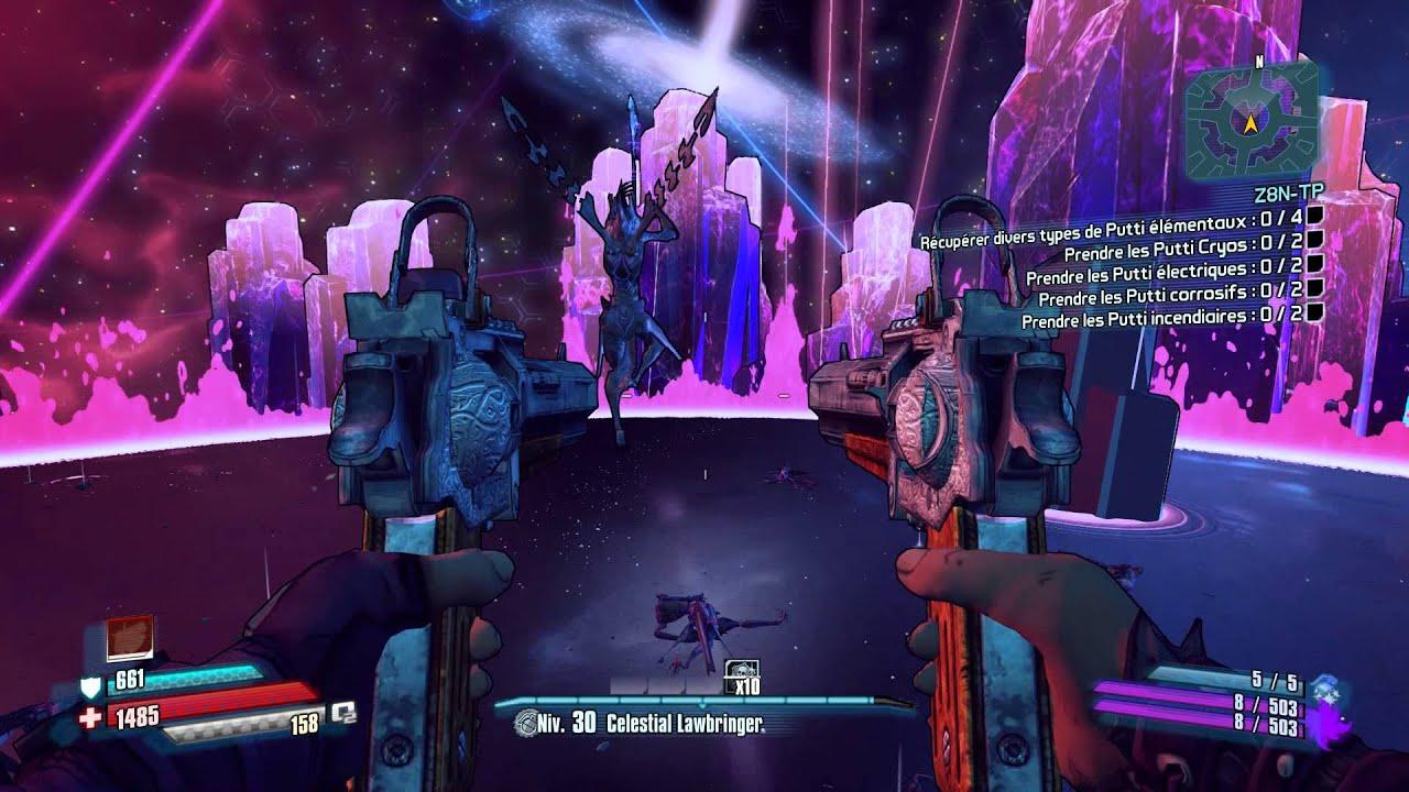 Borderlands The Pre Sequel - The Sentinel - Nisha level 30 - Fan The Hammer  Build