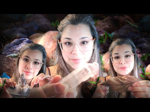 asmr-describing-3-items-in-detail-tapping-with-natural-nails-[relax-+-calm]-[stone-+-crystal-+-leaf]