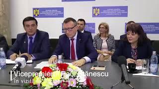 Vicepremierul Paul Stănescu, în vizită la Giurgiu 19.04.2018