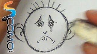 Dibujar expresiones - personajes tristes