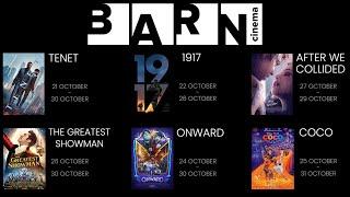 Barn Cinema Arrives Next Week! First Films Announced!