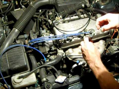 95 Honda Accord Engine Diagram 99 F250 Headlight Wiring How To Change Spark Plug Wires On - Youtube