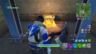 Playing with the new blue battering ram skin!!! Fortnite Battle Royale