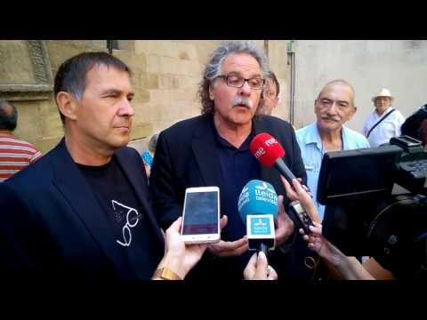 Joan Tardà i Arnaldo Otegi visiten la Paeria de Lleida