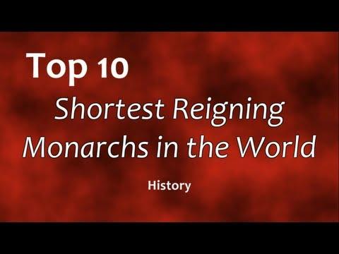 Top 10: Shortest Reigning Monarchs