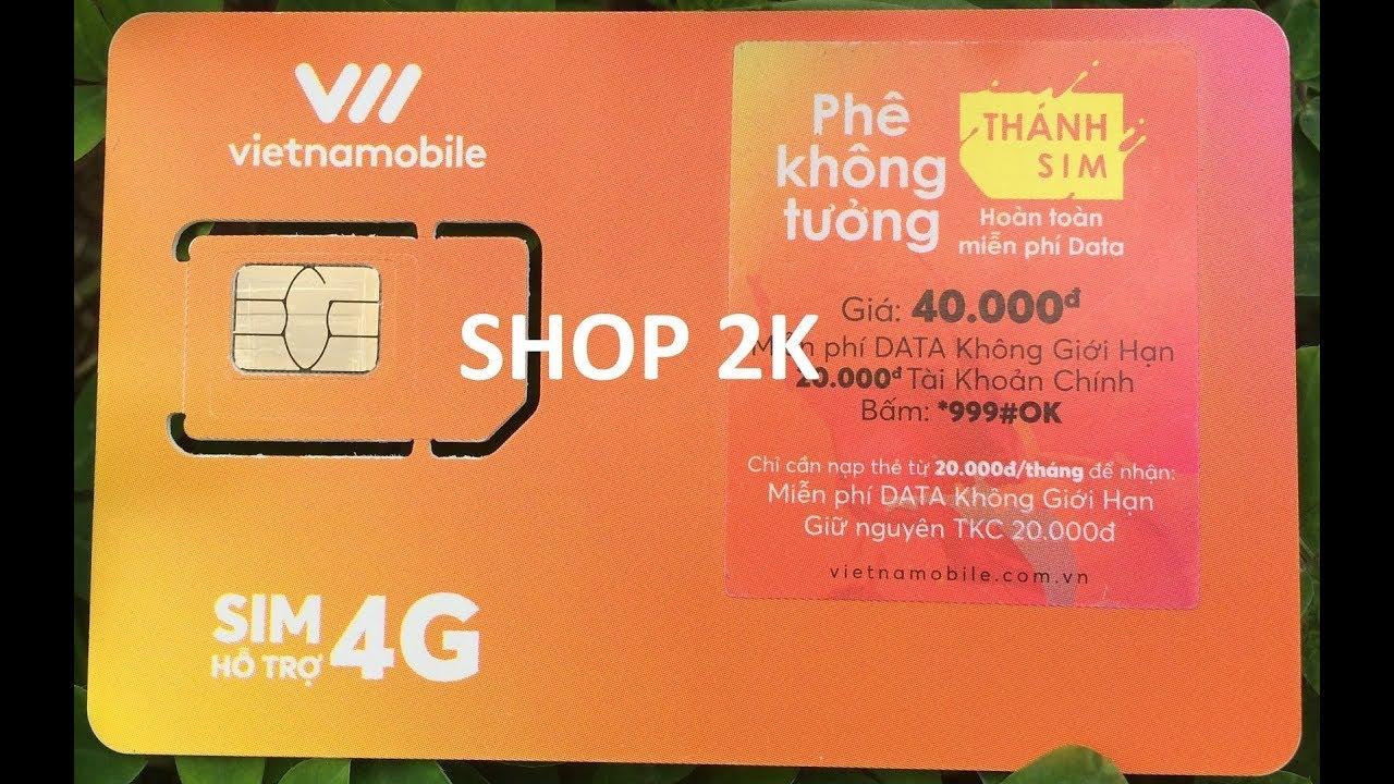 Thánh SIM Vietnamobile Không giới hạn dung lượng, không tốn phí duy trì