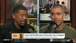 """Jalen & Jacoby SHOCKED """"Lakers fall 4.5 GB 8 seed in West; Luke Walton maybe fired after this season"""