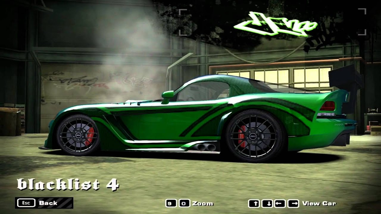 NFS Most Wanted Blacklist Car - #4 JV