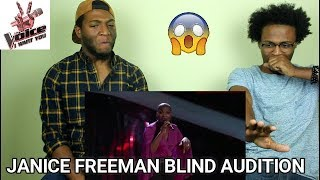 "The Voice 2017 Blind Audition - Janice Freeman: ""Radioactive Soul"" (REACTION)"
