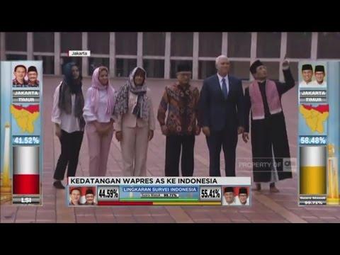Wapres AS Mike Pence Berkunjung Ke Indonesia, Temui Jokowi & ke Masjid Istiqlal
