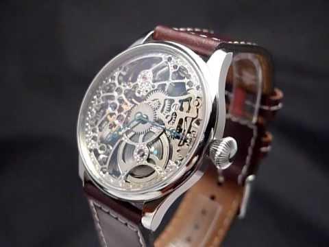Pánské náramkové hodinky - SKELETON - vintage watch skeleton - YouTube 252dd1d574d