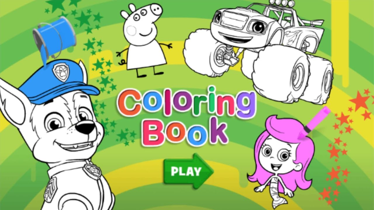 NICK Jr.: Coloring Book - for KIDS - YouTube