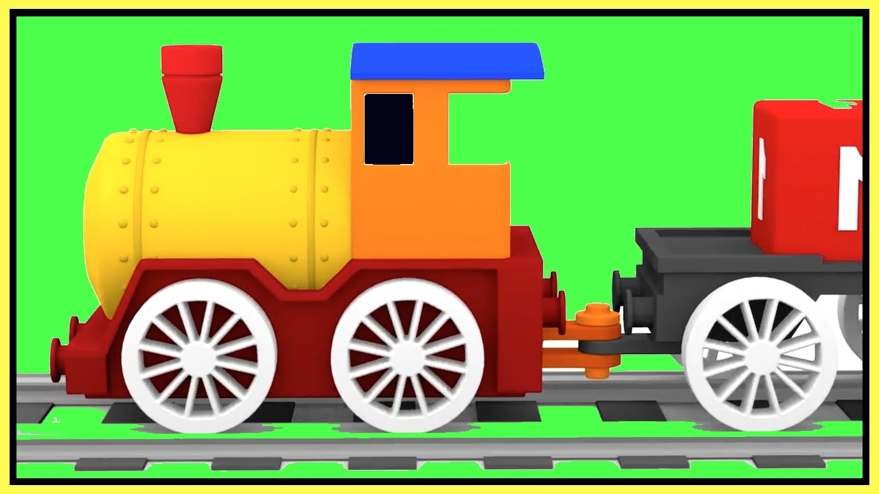MAGIC TRAIN Construction Demo to Learn Colors - Kids Cartoons Cars ...