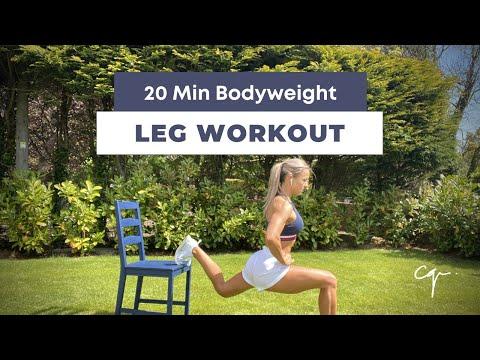 20 Min Leg Workout | Glutes, Thighs & Core Bodyweight | Follow Along