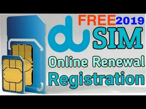 How To ID Renewal-Registration Online For DU Sim Card In UAE FREE!