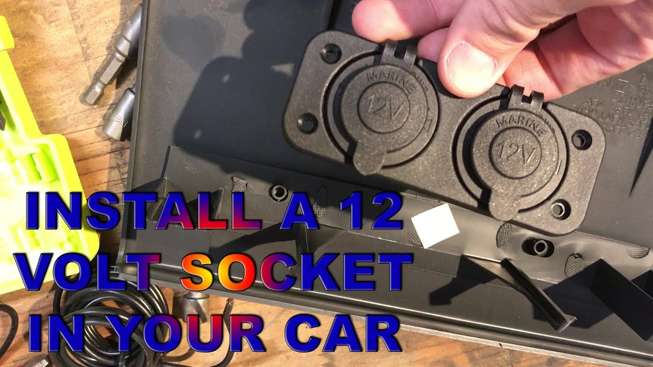 installing 12v sockets for as low as $10 switched! youtubeinstalling 12v sockets for as low as $10 switched!