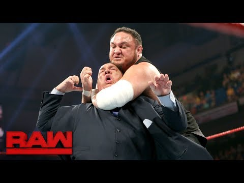 Samoa Joe traps Paul Heyman in the Coquina Clutch: Raw, June 5, 2017