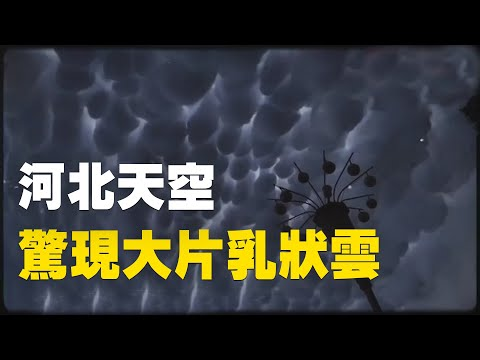 7月31日,河北邯鄲、 邢臺天空出現大片乳狀雲。| #大紀元新聞網