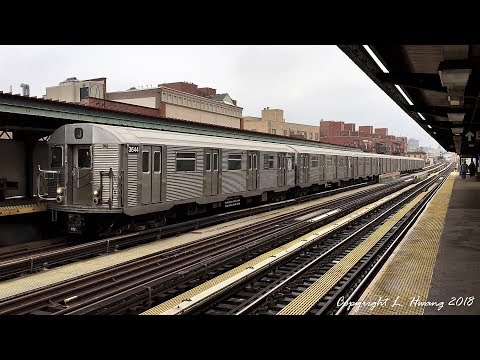 [60fps] NYC Subway: R32 on the BMT Jamaica Line