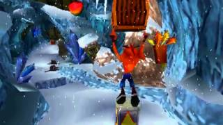 Crash Bandicoot 2: Cortex Strikes Back - Stage 2: Snow Go (Crystal/Clear Gem Get)