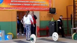тяжелая атлетика, из первенства Липецкой области 2016 среди юниоров 14, 16 04 2016