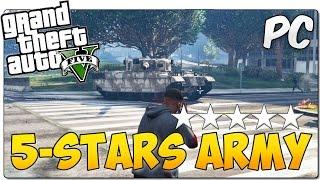 THE ARMY SPAWNS AT FIVE STARS MOD GTA 5 PC | El ejército va a cazarte con 5 estrellas