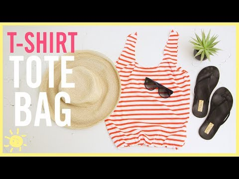 DIY | NO Sew T-Shirt Bag (SO Easy!!)