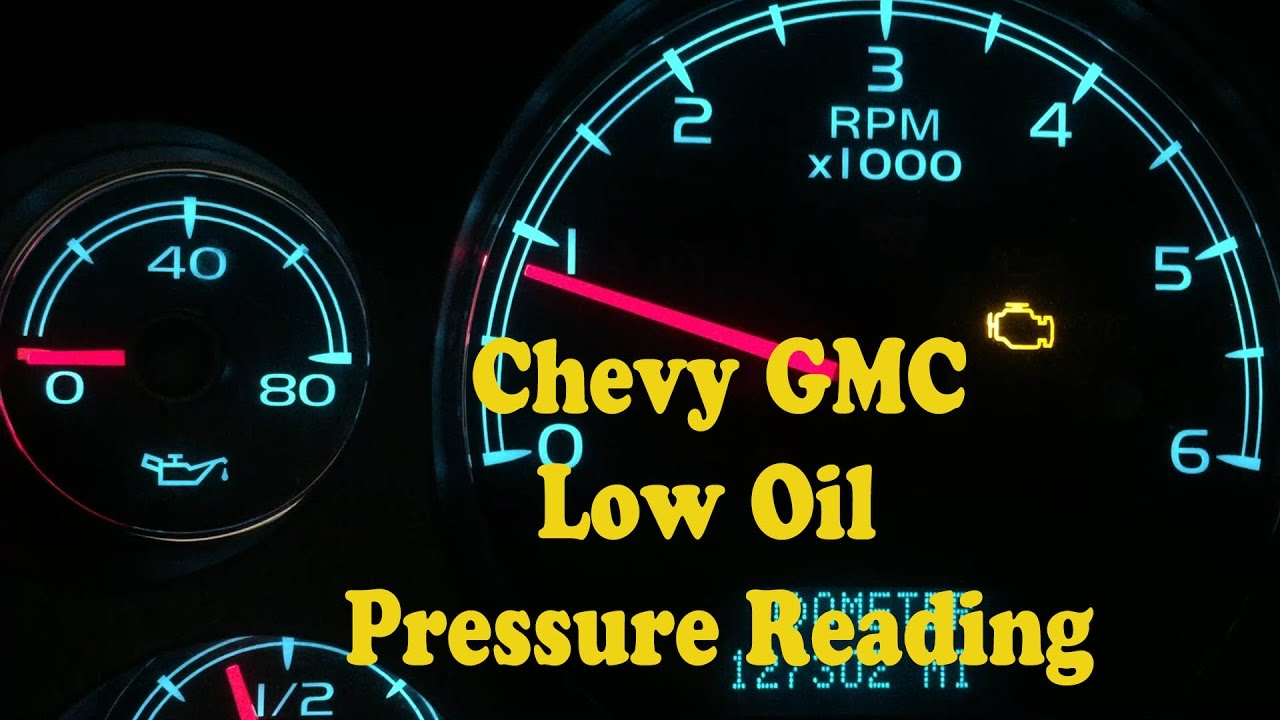 maxresdefault chevy gmc no oil pressure gauge reading youtube  at soozxer.org