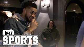 Karl-Anthony Towns Stoked About Eagles: Bring On the Patriots! | TMZ Sports
