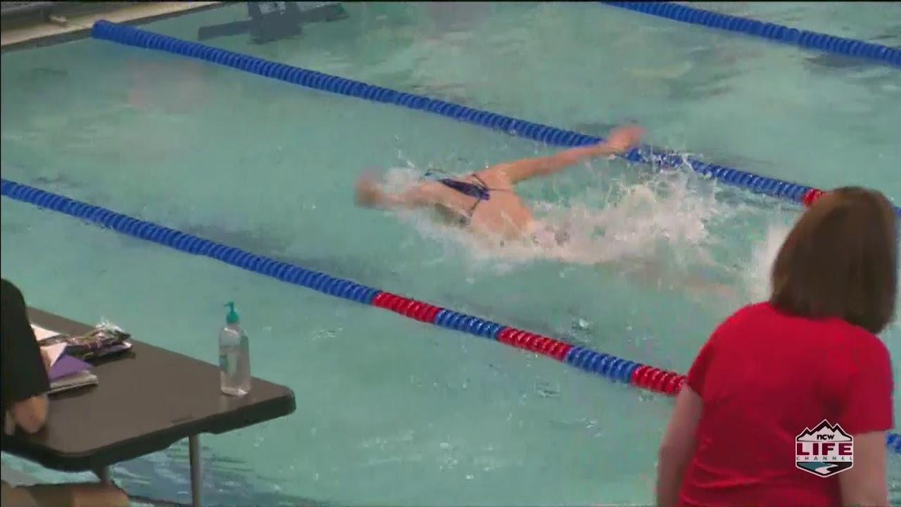 bRoll of Eastmont Swim Meet 2021-03-05