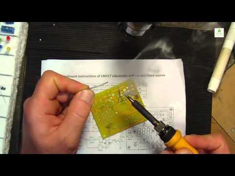LM317 Adjustable 1.25V-12V 5V Voltage Power Supply kit Part 1