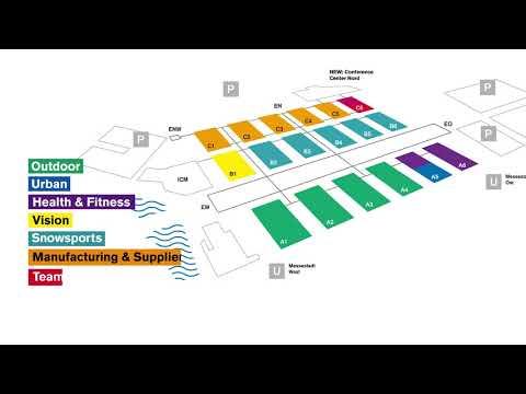 ISPO Munich Hallenplan 2019: Die ganze Welt des Sport Business